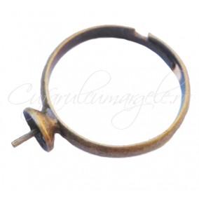 Cadru inel bronz cupa pin 6mm