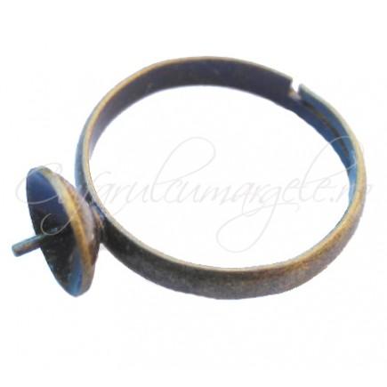 Cadru inel bronz cupa pin 8mm