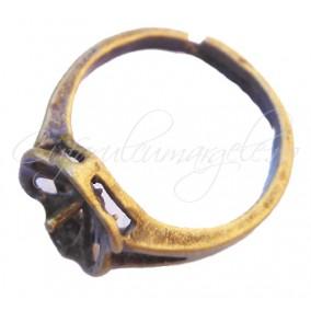Cadru inel bronz cupa pin floare 10mm