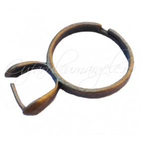 Cadru inel bronz pin lateral simplu 8mm