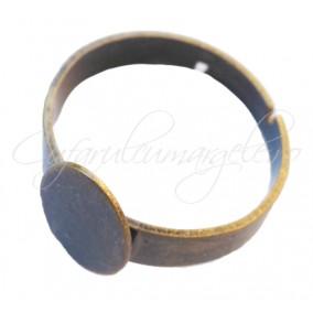 Cadru inel bronz platou oval 12x8mm