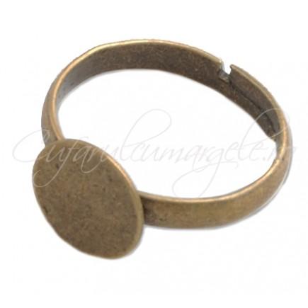 Cadru inel bronz platou rotund 12mm