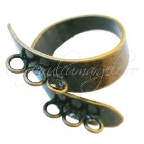 Cadru inel bronz spirala 6 anouri