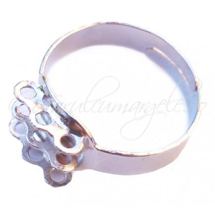 Cadru inel gri argintiu 9 anouri