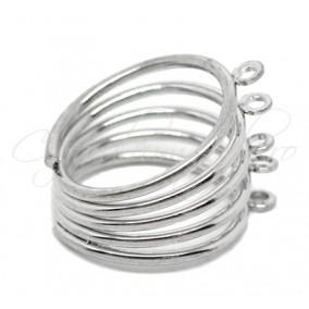 Cadru inel gri argintiu arc 5 anouri