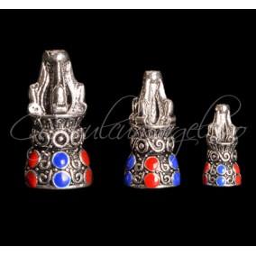 Capacele argint tibetan 3 marimi