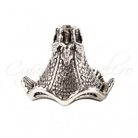 Capacele argint tibetan con 18x22mm