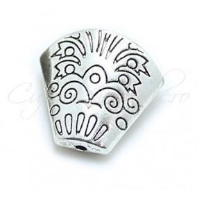 Capacele argint tibetan con turtit 18x20mm