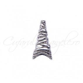 Capacele argintii 23x12mm