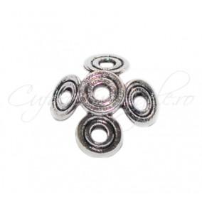 Capacele argintii 5 cercuri 14x14x6mm