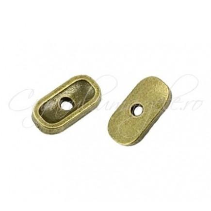 Capacele bronz dreptunghiular 15x8x2 mm
