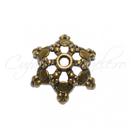 Capacele bronz stea 17x6mm
