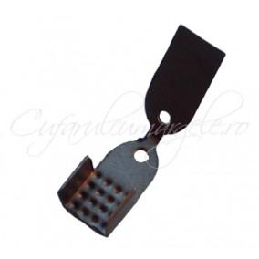 Capat snur bronz 4 parti 11x6 mm 40 bucati