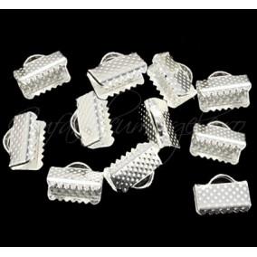 Capat snur lat argintiu 10x7mm (10 buc)