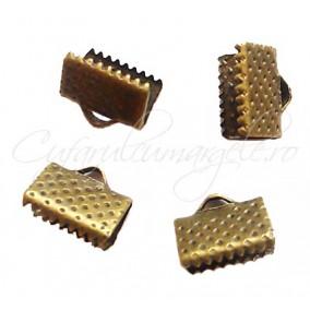 Capat snur lat bronz 10x7mm (10 buc)