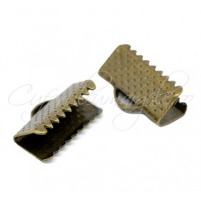 Capat snur lat bronz 16x8mm (10 buc)