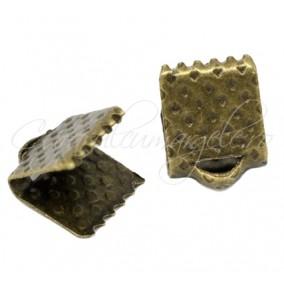 Capat snur lat bronz 7x6mm 100bucati