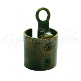 Capat snur rotund 8mm bronz 16x9mm (10buc)