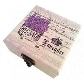 Caseta bijuterii lavender crown 11x11x5cm