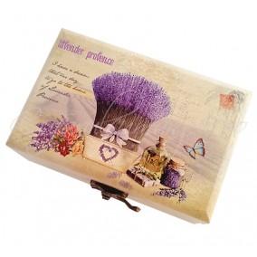 Caseta bijuterii lavender provence 12x8x5cm