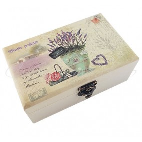 Caseta bijuterii Lavender Provence 16x11x7cm