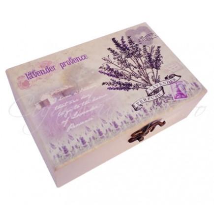 Caseta bijuterii Lavender Provence 19x13x7cm
