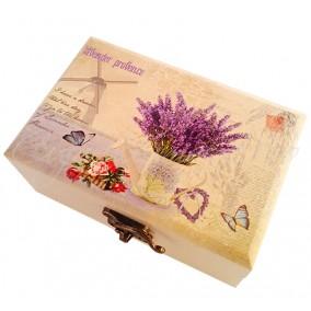 Caseta bijuterii stropitoare lavender provence 12x8x5cm