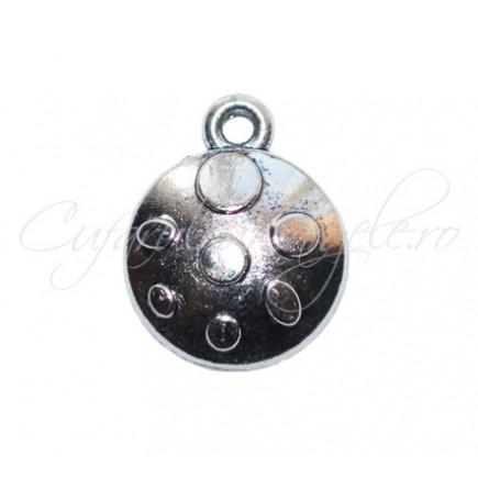 Charm argintiu carapace 15x14 mm