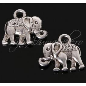 Charm argintiu elefant 14x12mm