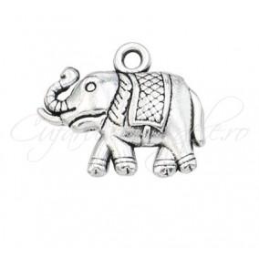 Charm argintiu elefant 20x15mm