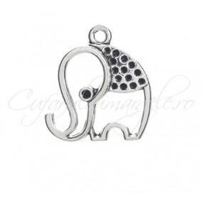 Charm argintiu elefant 24x20mm