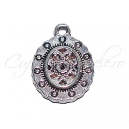 Charm argintiu medalion 20x15 mm