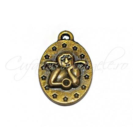 Charm bronz amuleta ingeras 18x14 mm
