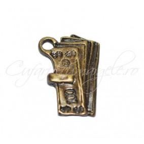 Charm bronz bancnota 19x16 mm