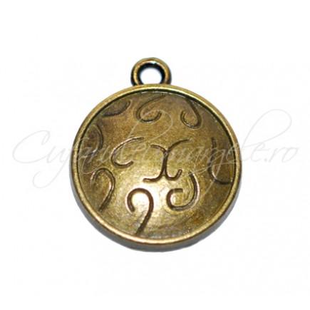 Charm bronz banut bastonase 19x16 mm