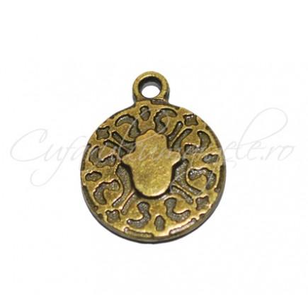 Charm bronz banut mana Fatima 18x10 mm