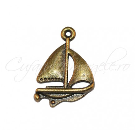 Charm bronz barca 23x16 mm