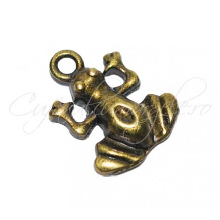 Charm bronz broasca
