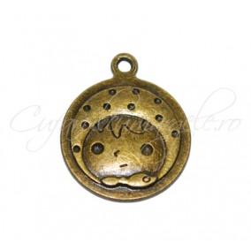 Charm bronz cap fetita 28x24 mm
