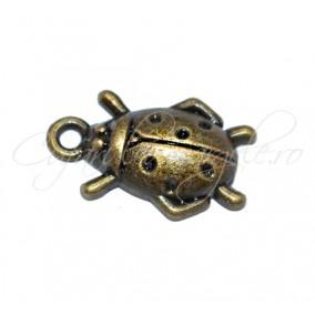 Charm bronz carabus 17x11 mm