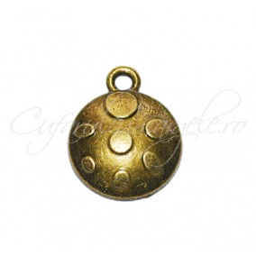 Charm bronz carapace 15x14 mm