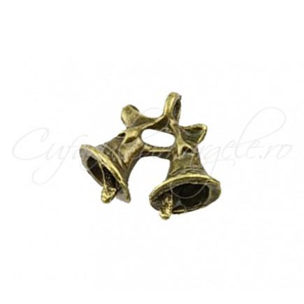 Charm bronz clopotei 15x16 mm