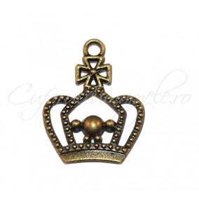 Charm bronz coroana regala 25x20 mm
