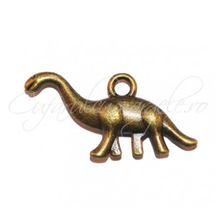 Charm bronz dinozaur 27x14 mm