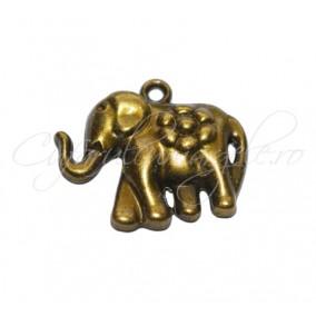Charm bronz elefant 30x25 mm