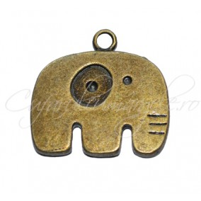 Charm bronz elefant 35x15 mm