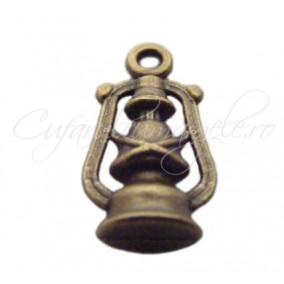 Charm bronz felinar 20x10 mm