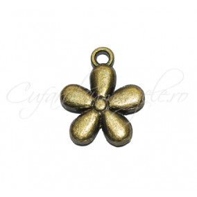 Charm bronz floare 13x12 mm