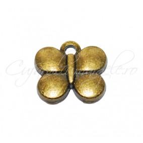 Charm bronz fluture 13x10 mm