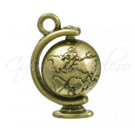Charm bronz glob 18x8mm